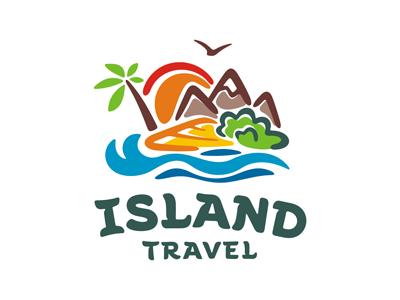 Island logo template