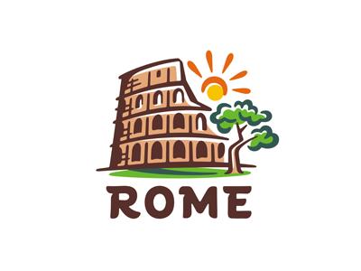 Rome logo template