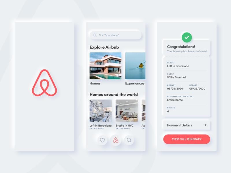 Airbnb Neumorphism