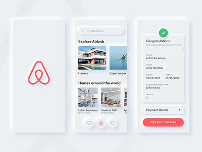 Airbnb Neumorphism sketch rent home airbnb ios app light neuomorphism skeuomorphism skeuomorphic skeuomorph gradient ui minimal design