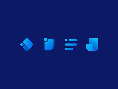 Biller - branding exploration logo design branding brandidentity logo designs web vector minimal blue style gradient exploration branding concept branding logos logotype logo design