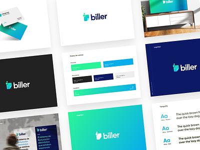 🧾 biller | branding logo typography logotype gradient vector minimal design graphic rebranding branding gradient logo gradients biller