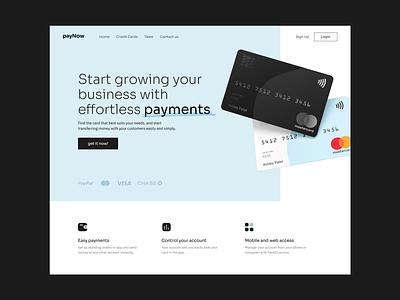 Paynow | Payment Landing web ui fintech app paypal landing design hero card minimal branding payment method payment app landing fintech payment