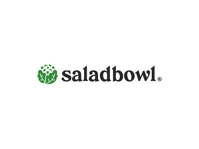 saladbowl | branding healthy bowl minimal design isologo typographic typogaphy health app health branding logotype logo design logo salad