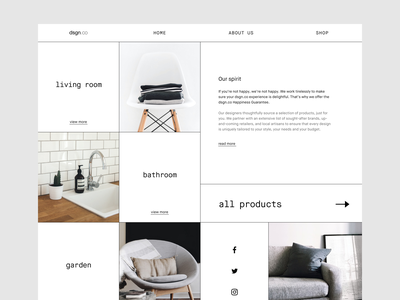🔖 design interior | hero section typographic typography fashion dailyuichallenge dailyui ui challange line art lines grid layout grids structure ui ui  ux uidesign black  white minimal architecture interior architecture design design interior