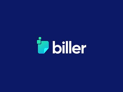 📃 biller | logotype rebrand bill pay bill billing logo logodesign logo mark minimal logotype gradient design branding