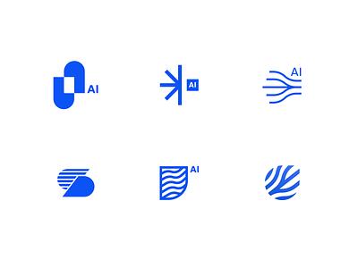 Logo Exploration / Pento.ai wip explore logotype rebranding brand gradient logo minimal design branding