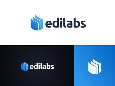 Edilabs Logo product logotype abstract gradient startup logo branding