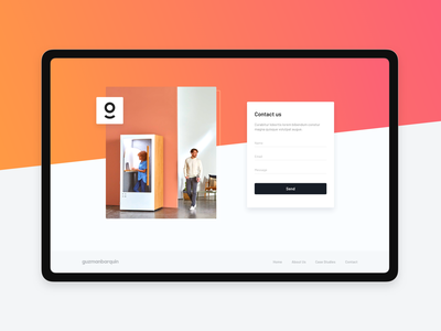 Contact form designer minimal colors portfolio form contact contact form landing gradient color gradients graphic