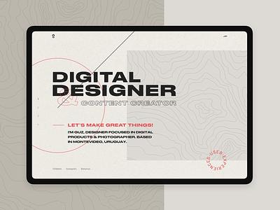 Hero Landing - Designer patterns typogaphy minimal userinterface ui branding landing digital hero designer grotesque grotesk