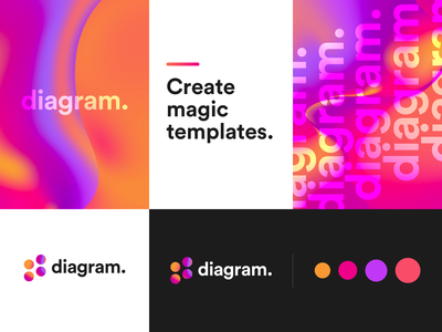 Diagram App Logo app web minimal design branding abstract logo gradients gradient diagram