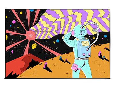 Astronaut shooting star space astronaut