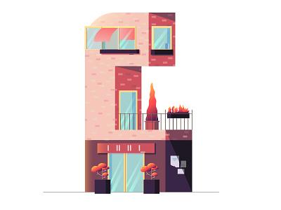 C loss dutch architecture utrecht netherlands holland roof plants window house alphabet letter c