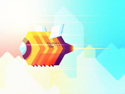 Robo-B 2d flying geometric nanobot robot bee