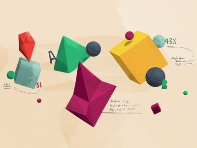 Google shapes floating tillnoon sphere handwriting typo shapes google styleframe