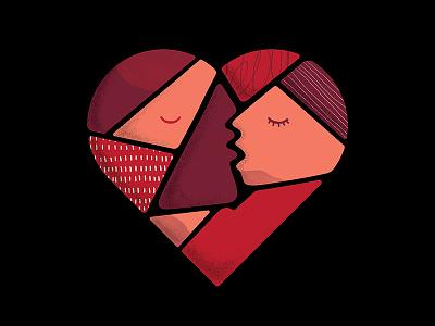 Lacta / I feel the Love Album Cover love kiss texture brush tillnoon lacta music cover heart