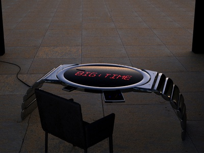 Chrome Watch Table
