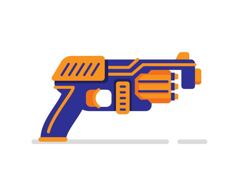 Nerf Gun flat illustration