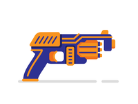 Nerf Gun flat illustration
