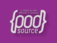 Logo PodSource long shadow