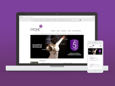 Grohe Immobilier webdesign wordpress