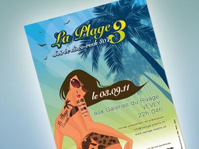 La Plage Events Flyer flyer