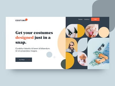 Costuma pattern ecommerce product design landing page concept landing page ui fashion product typography website design user interface web ux ui landing page design landing page