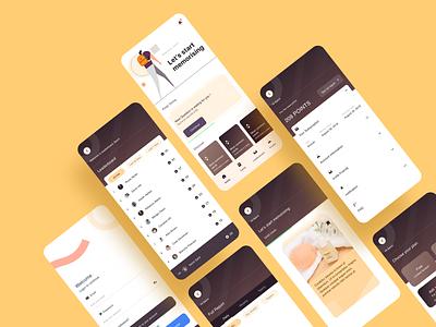 Memorising app ios app design cards ui educational education education app design user interface ux illustration ui application design application ui app design application app