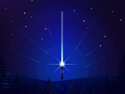 Star Wars sword space star jedi design lightsaber may 4th illustration sword saber light star wars