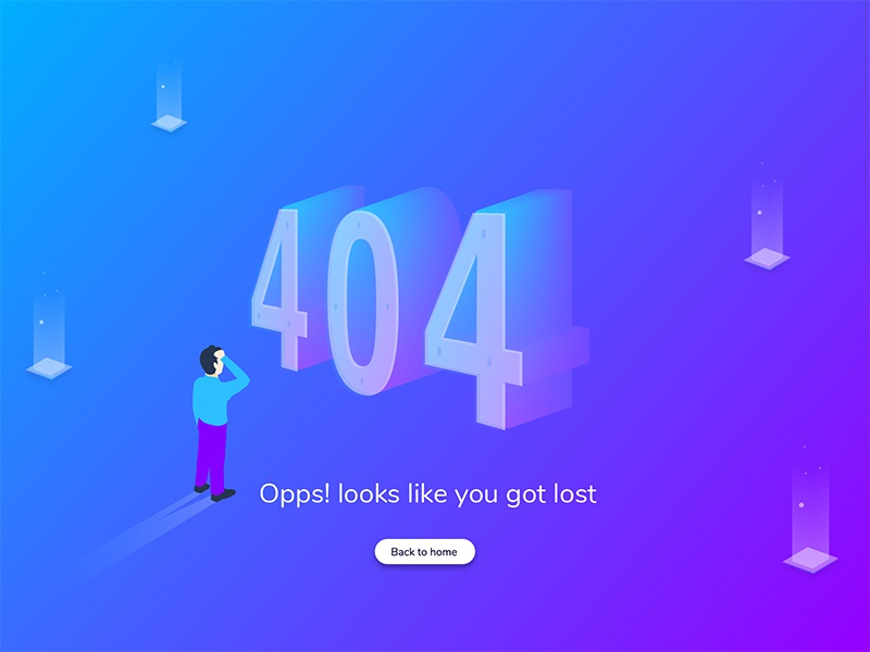 404 page ui design product 404 page colors website vector illustration app web user interface ux ui
