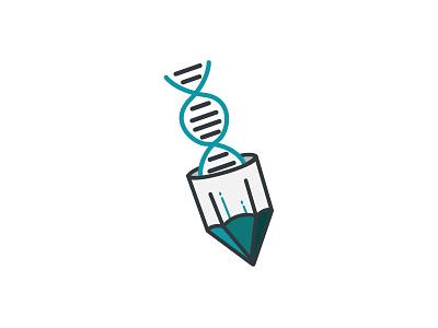 Medical + Study Logo student docotr pen vector illustrator illustration icon dna pencil study medical logo