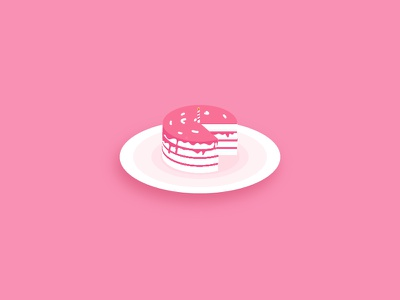 Cake food party color sweet pink vector illustrator illustration birthday cake
