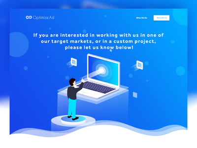 Get In Touch user interface uiux contact computer user isometric vector illustration website web ux ui