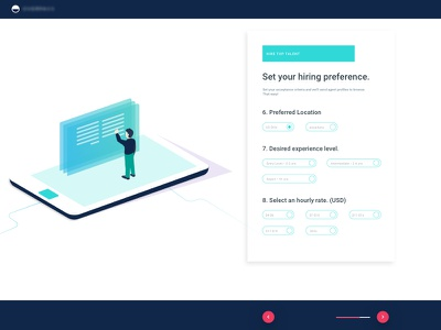 Style example illustration uiux ux ui user user interface page layout monitor screen location setup hire