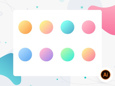 Cool Gradient graphics vector illustration eye catching warm cool gradients color ai