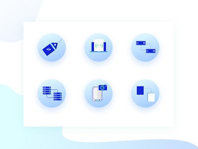 Icons laptop document iilustration camera api block copy snapshot storage server discount icons