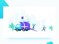 Deliver illustration