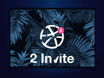 Dribbble Invite dribbble invite join dark forest player notification forest leaf tropical two invite dribbble