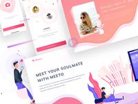 Dating app screens