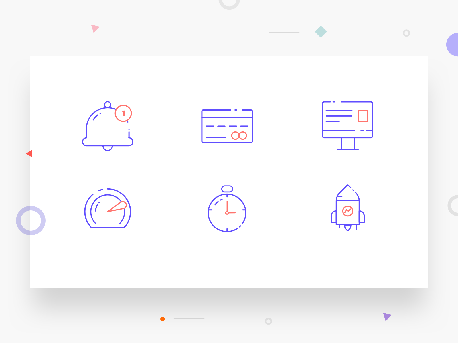Icon set icon artwork illustration line art rocket clock timer dashboard computer credit card notification icon