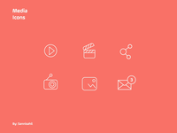Animated Media Icons