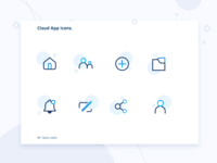 Cloud app icons