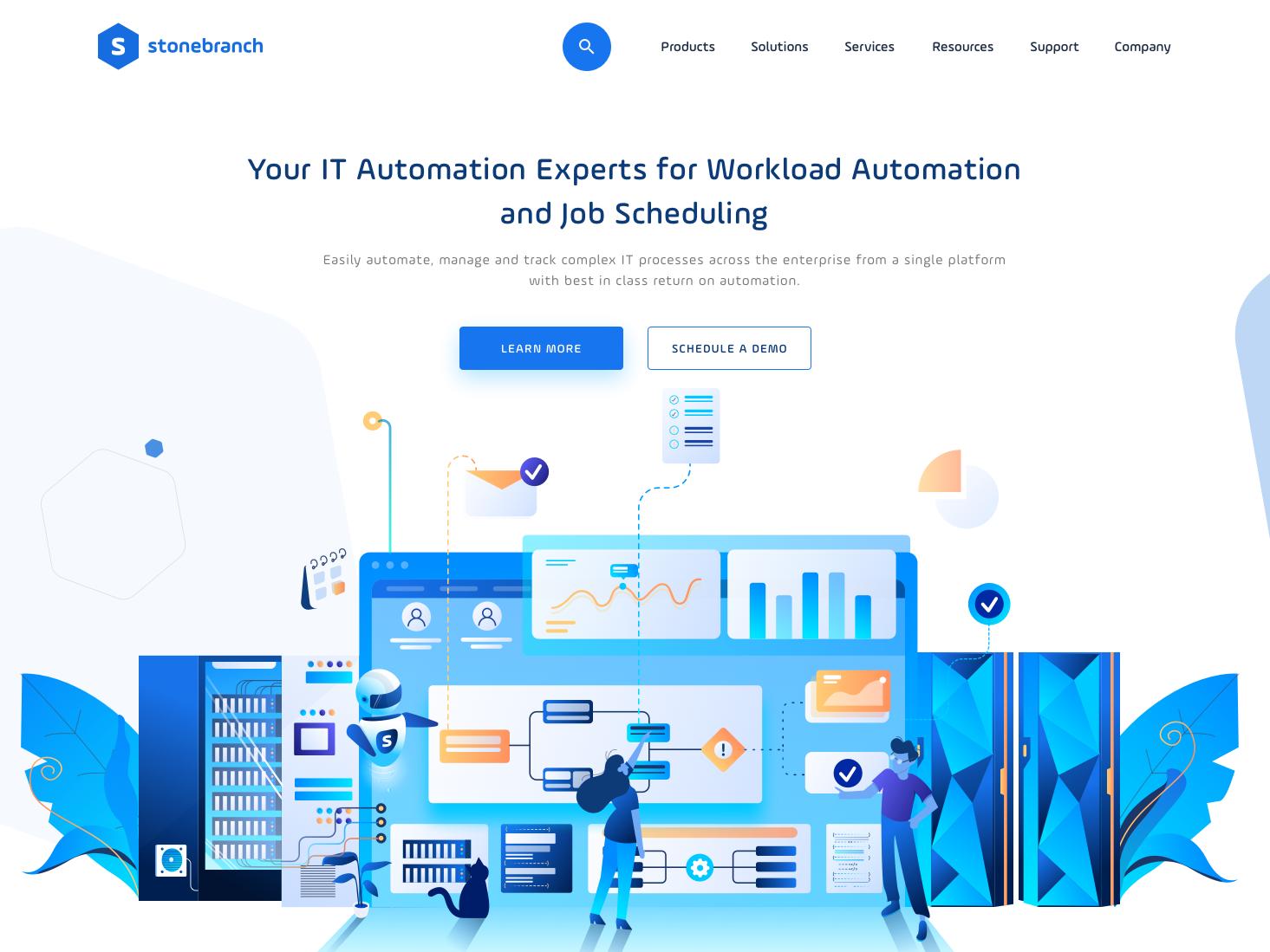 Dynamic It Automation design color illustrator user interface message bot data server automation website app web illustration uiux ux ui