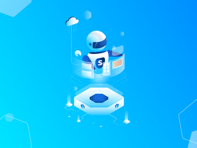 Product  benefits web automation data cloud dashborad vector illustrator illustration isometric product bot