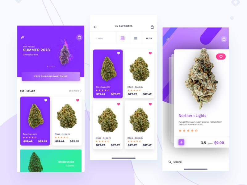 Weedmayem Buyers app ui design cart user experience user interface design user interface product design app design application ecommerce shopping app cannabis uiux ux ui app