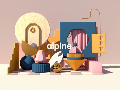 the Alpine x Forms & Shapes 3d animation motion artist design 3d art c4d cinema4d octane 3dart 3d