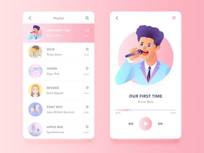 Daily UI#: Music App Design