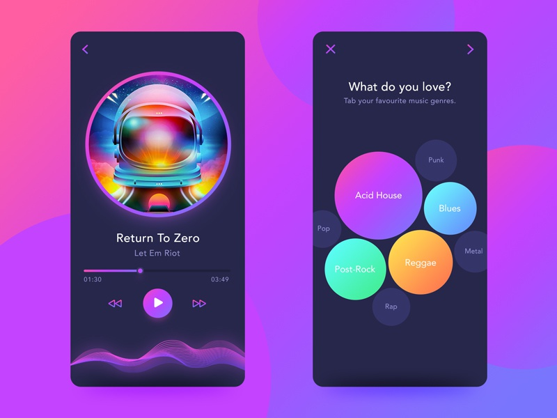 Back to 80s'-Music App Disco Style Concept Design by YUE  on Dribbble