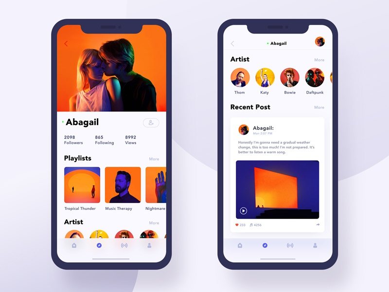 Daily Ui #005:Music App Friend's Profile