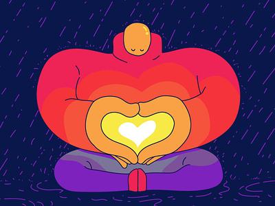 Meditasun 2d illustration character